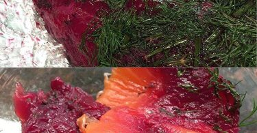 Gravadlax with Beets and Vodka